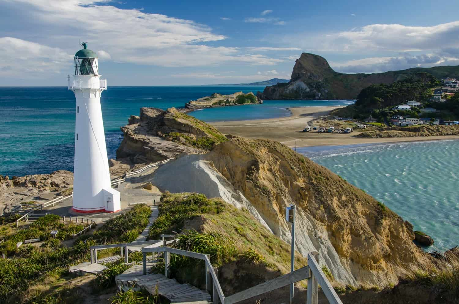 Castle Point Lighthouse, North Island of New Zealand