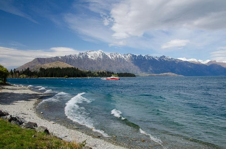 Best Things To Do In Queenstown -One Mile Car Park - view of the Remarkables