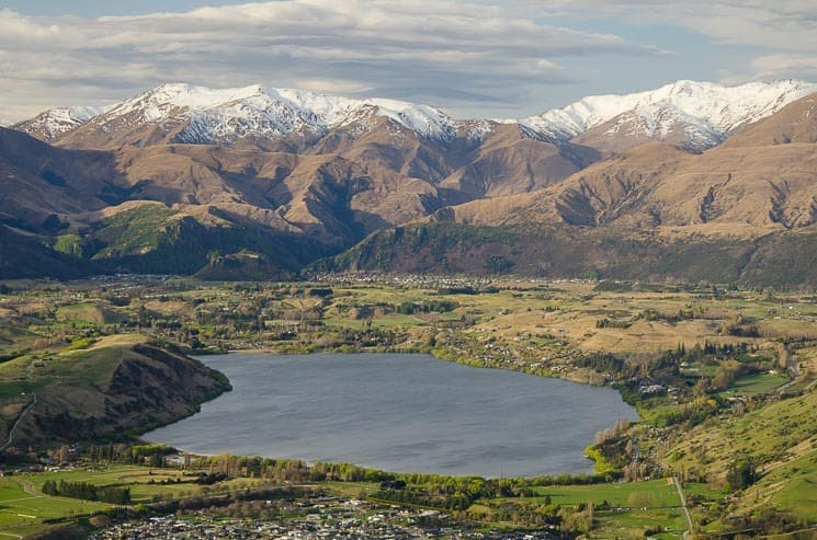 Best things to do in Queenstown - View of Lake Hayes from the Remarkables Lookout Point