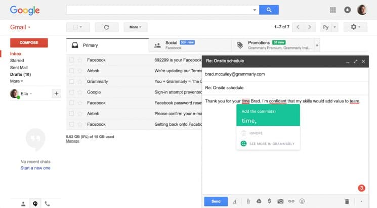 Grammarly Gmail