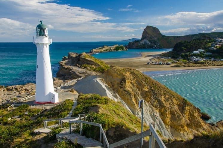 Nový Zéland - Castle Point Lighthouse