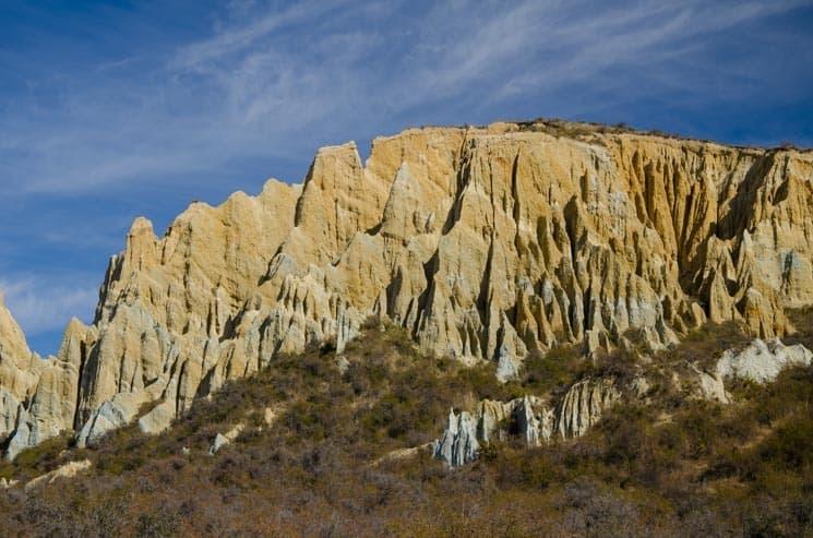Pískovcové útvary Clay Cliffs