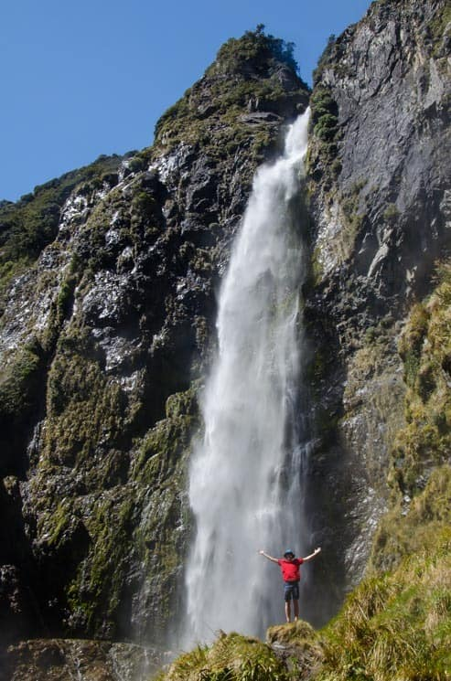 Ohromný vodopád Devils Punchbowl, Nový Zéland