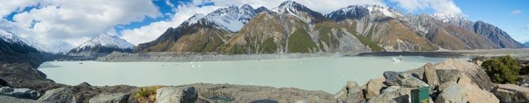 Ledovcové jezero Tasman, Nový Zéland