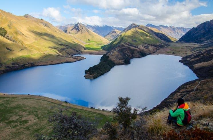 Jezero Moke Lake - Nový Zéland
