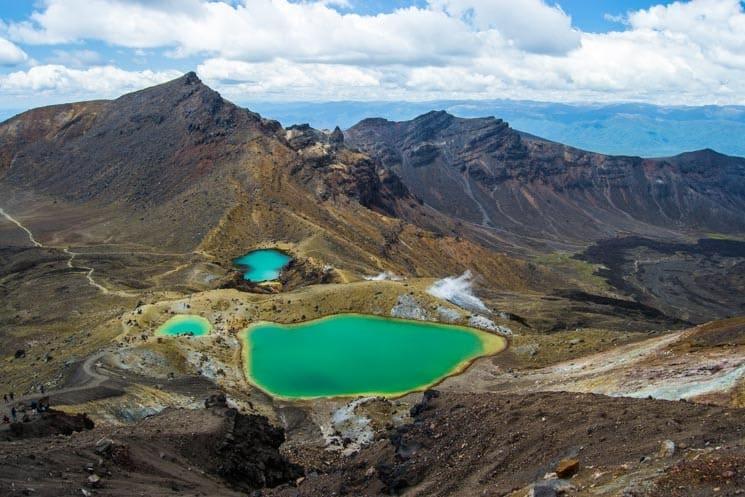 Emerald Lakes na Tongariro Alpine Crossing