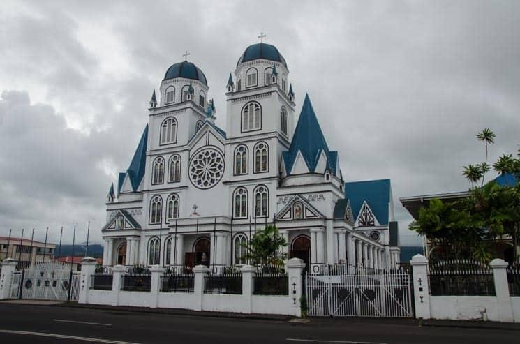 Katedrála v hlavním městě Apia, Upolu, Samoa