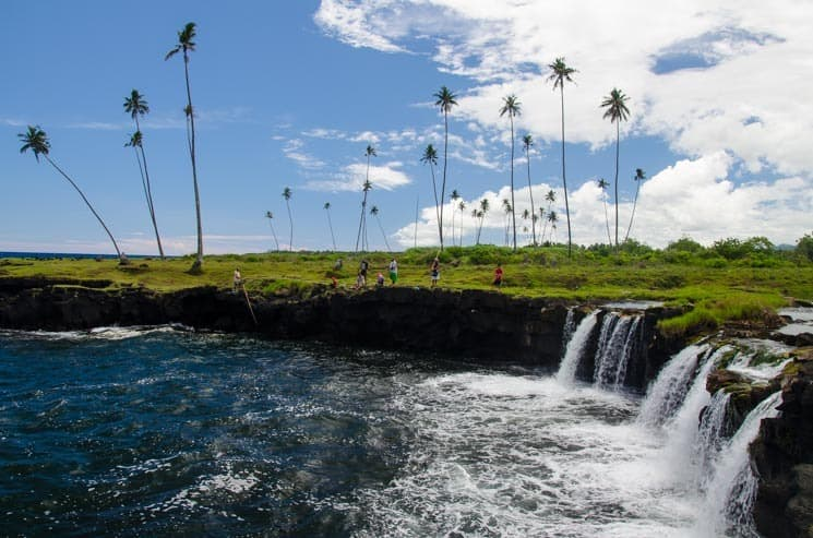 Vodopád Mu Pagoa, Samoa, ostrov Savai'i