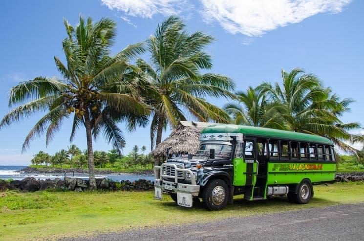 Samoa - místní autobusy