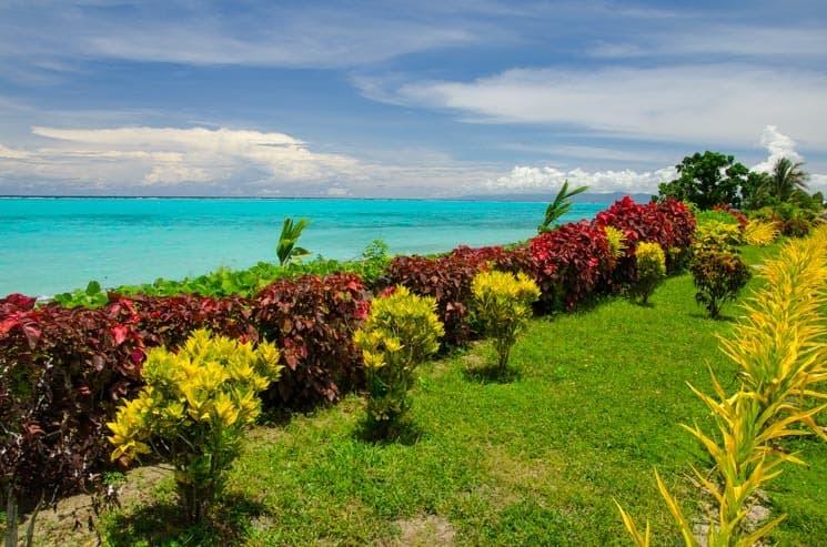 Samoa a tyrkysový oceán