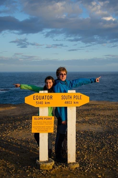 Slope Point - nejjižnější bod Nového Zélandu