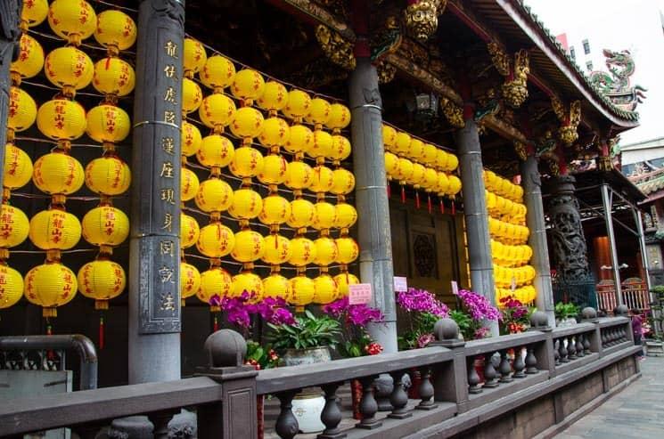 V Taipei je obrovské množství chrámů