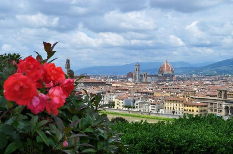 Pohled na Florencii ze zahrad