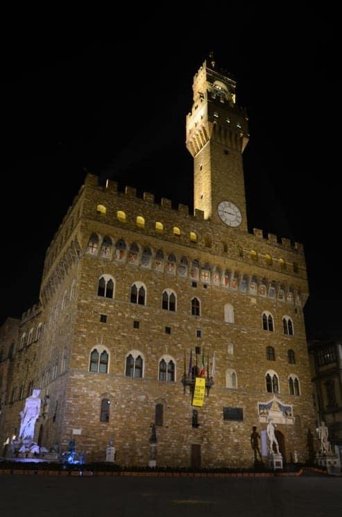Palazzo Vecchio na Piazza della Signoria, Itálie