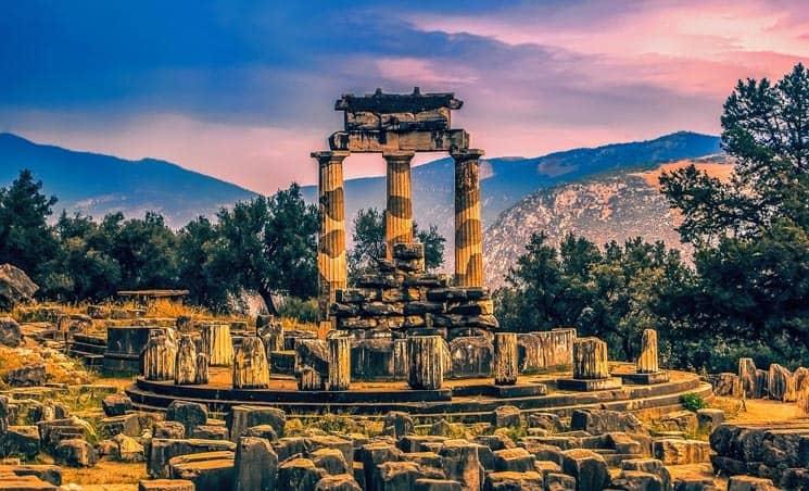 Temple of Apollo in Delphi - Greek Landmarks