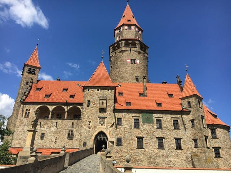 Bouzov Castle - popular tourist attraction in Moravia