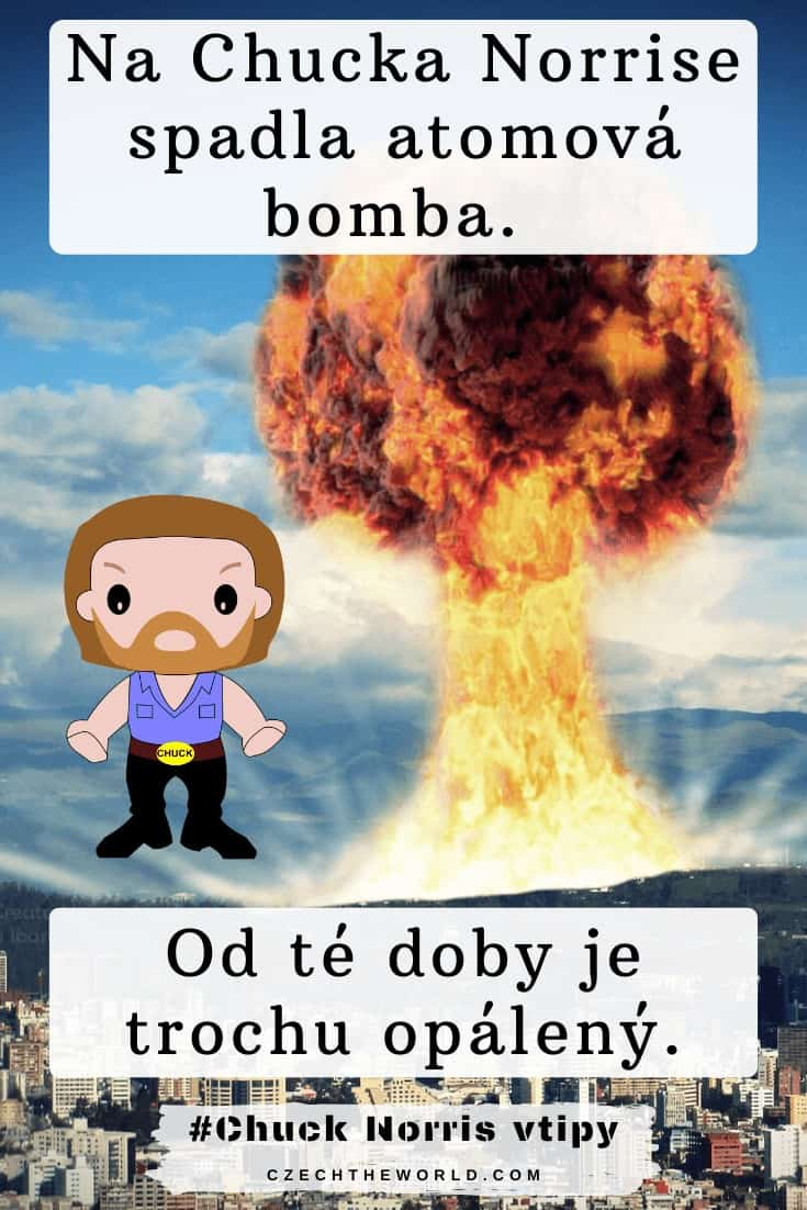 Na Chucka Norrise spadla atomová bomba. Od té doby je trochu opálený. Vtipy s Chuckem Norrisem