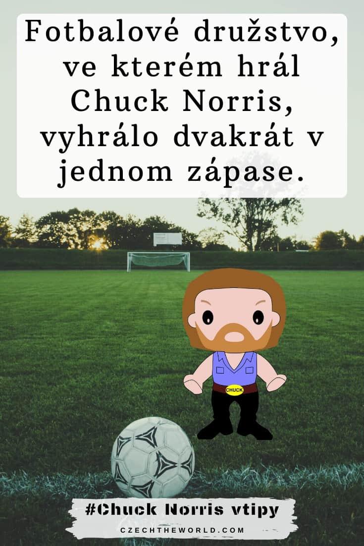 Fotbalové družstvo, ve kterém hrál Chuck Norris, vyhrálo dvakrát v jednom zápase.