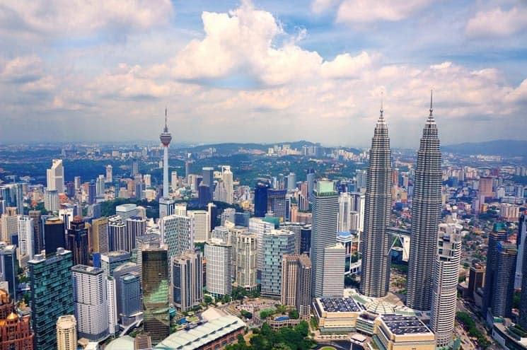 Pohled na hlavní město Malajsie - Kuala Lumpur