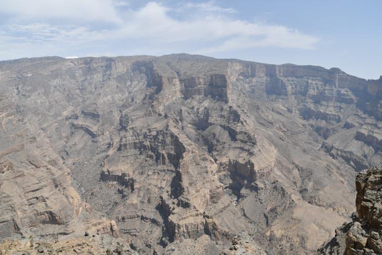 Kaňon přezdívaný jako Ománský Grand Canyon
