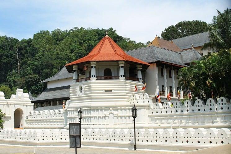 Chrám v Kandy, Srí Lanka