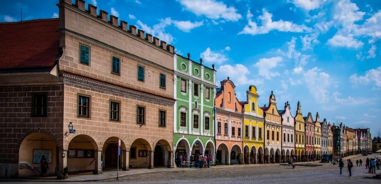 Domy na náměstí v Telči - nejkrásnější místa v ČR