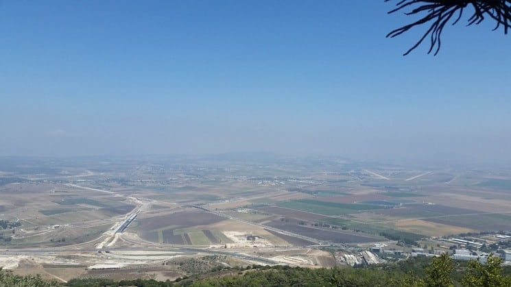 View from Mount Carmel, Israel