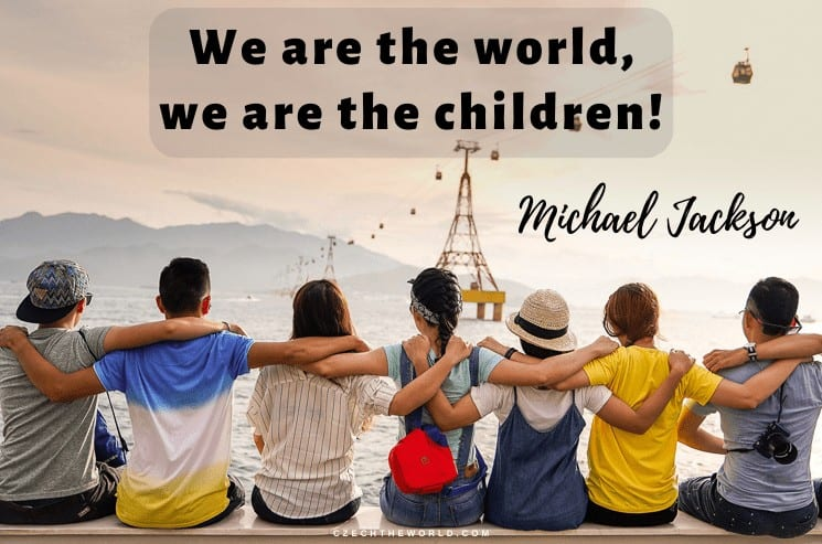 We are the world, we are the children!, Michael Jackson