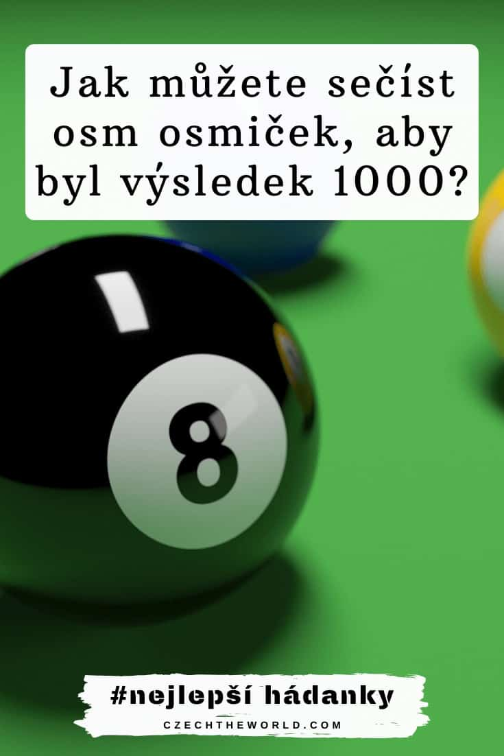 Jak můžete sečíst osm osmiček, aby byl výsledek 1000_ Hádanky