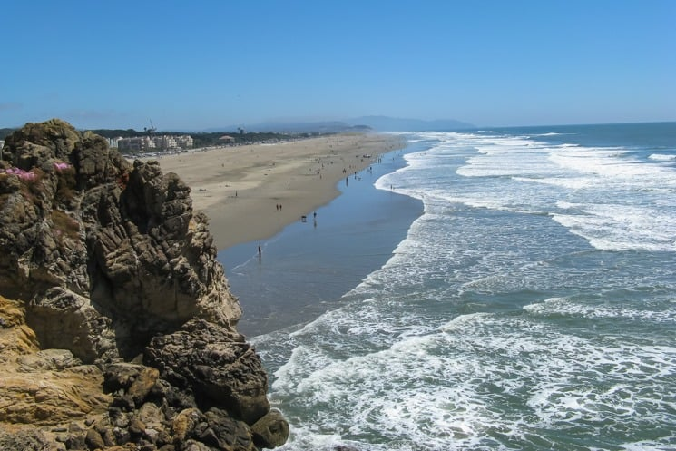 Surfing Spots in California - ocean beach
