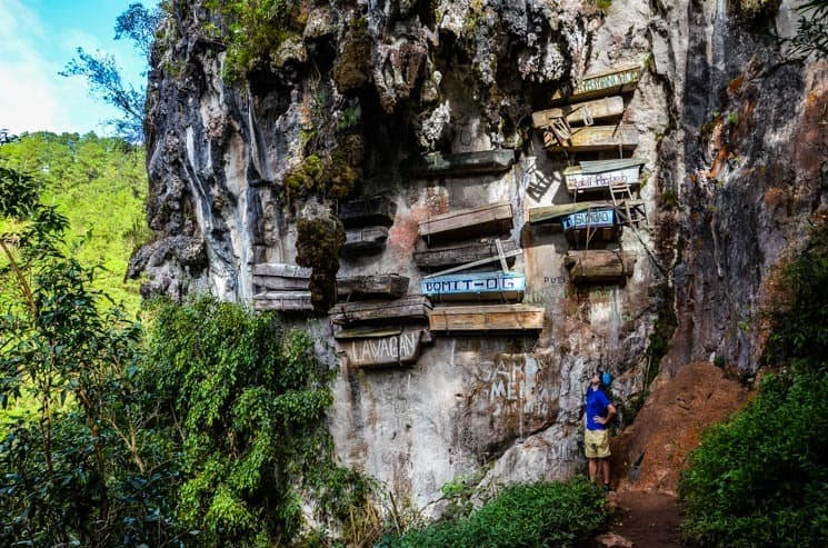 Tourist Spots in Sagada - Hanging Coffins