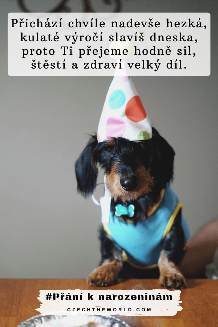 Přání ke kulatým narozeninám