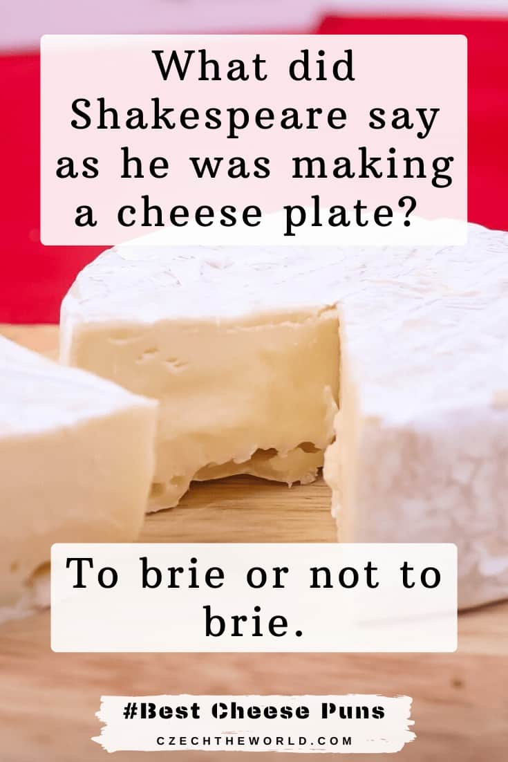 What did Shakespeare say as he was making a cheese plate_ To Brie or not to Brie - Cheese Puns (1)