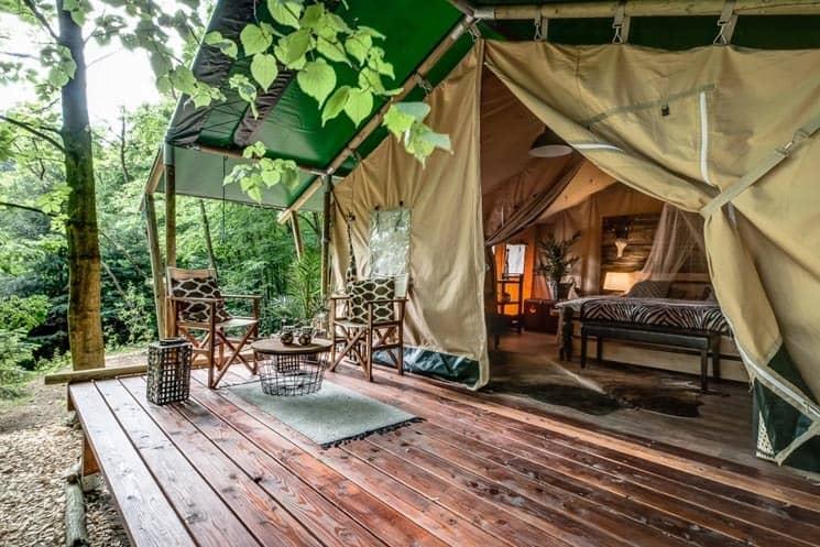 Africa House Zlín - luxusní stan zvenku