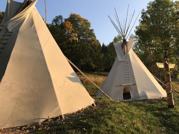 Indiánské Teepee stany - Jeseníky