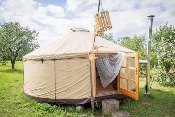 Glamping v luxusní jurtě -  západníc Čechy