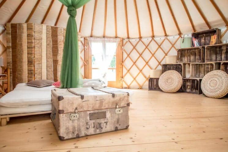 Luxusní jurta v západních Čechách