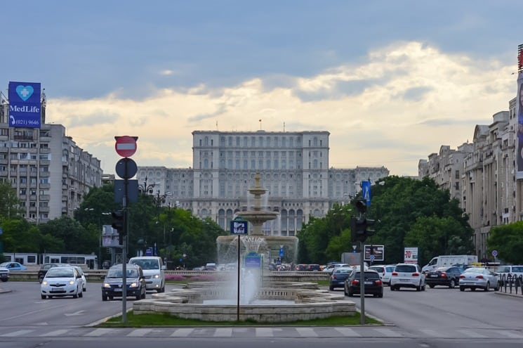 Parliament House in Bucharest
