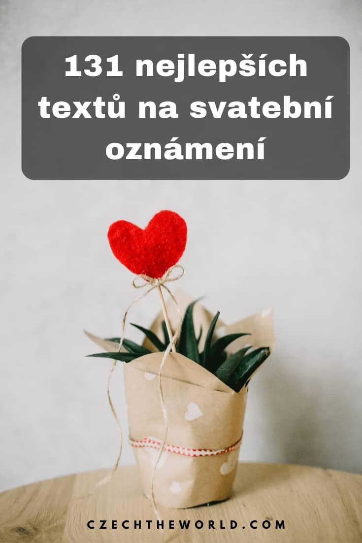 Texty na svatební oznámení