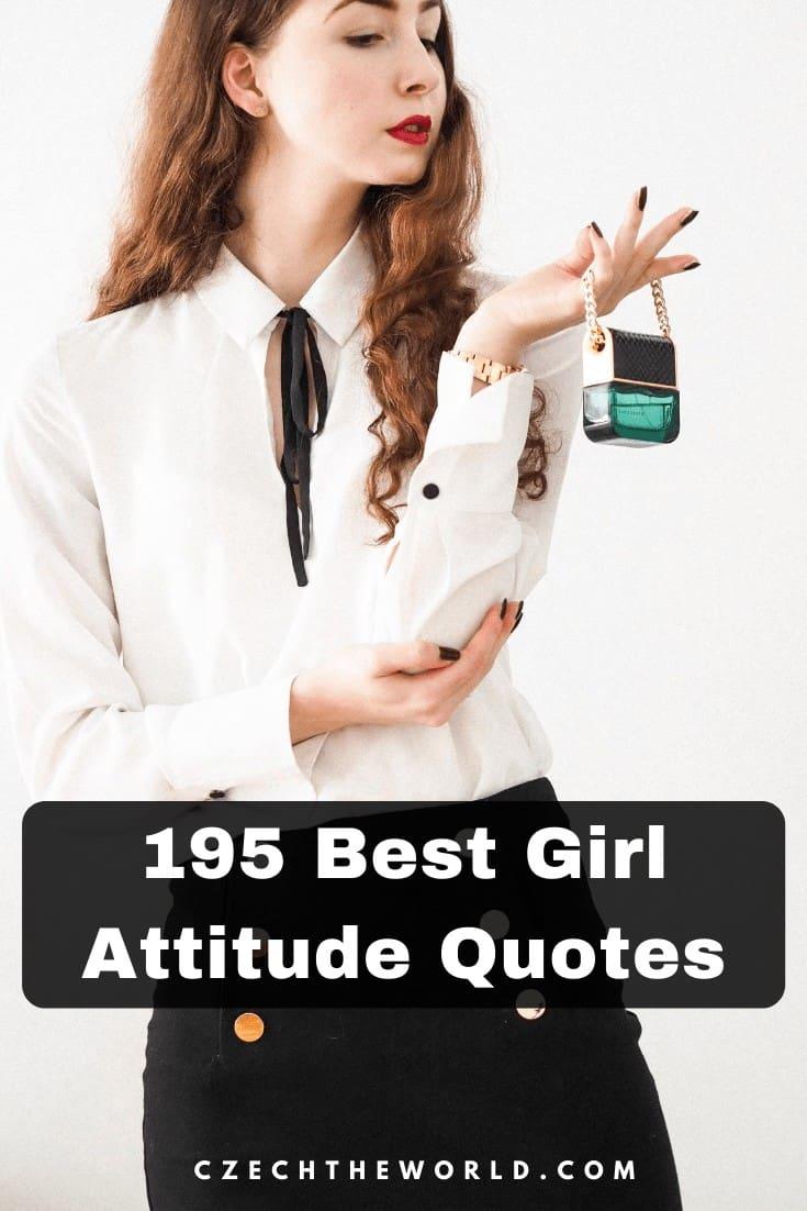 195 Best Girl Attitude Quotes