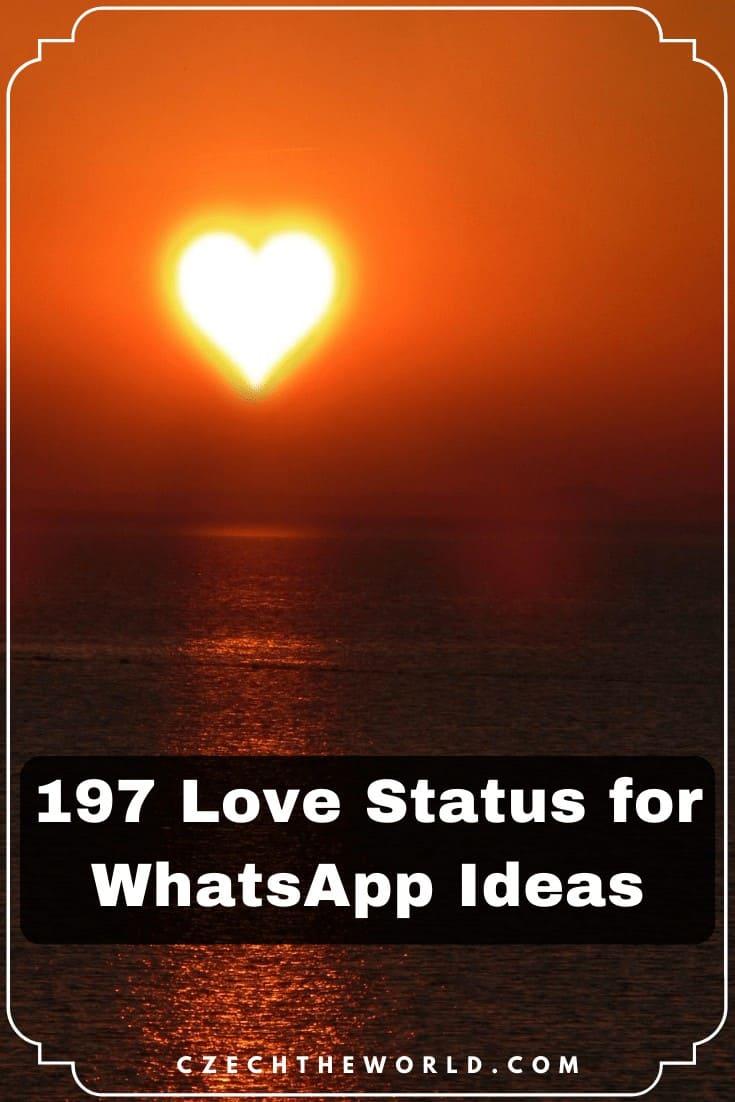 Love Status for WhatsApp Ideas