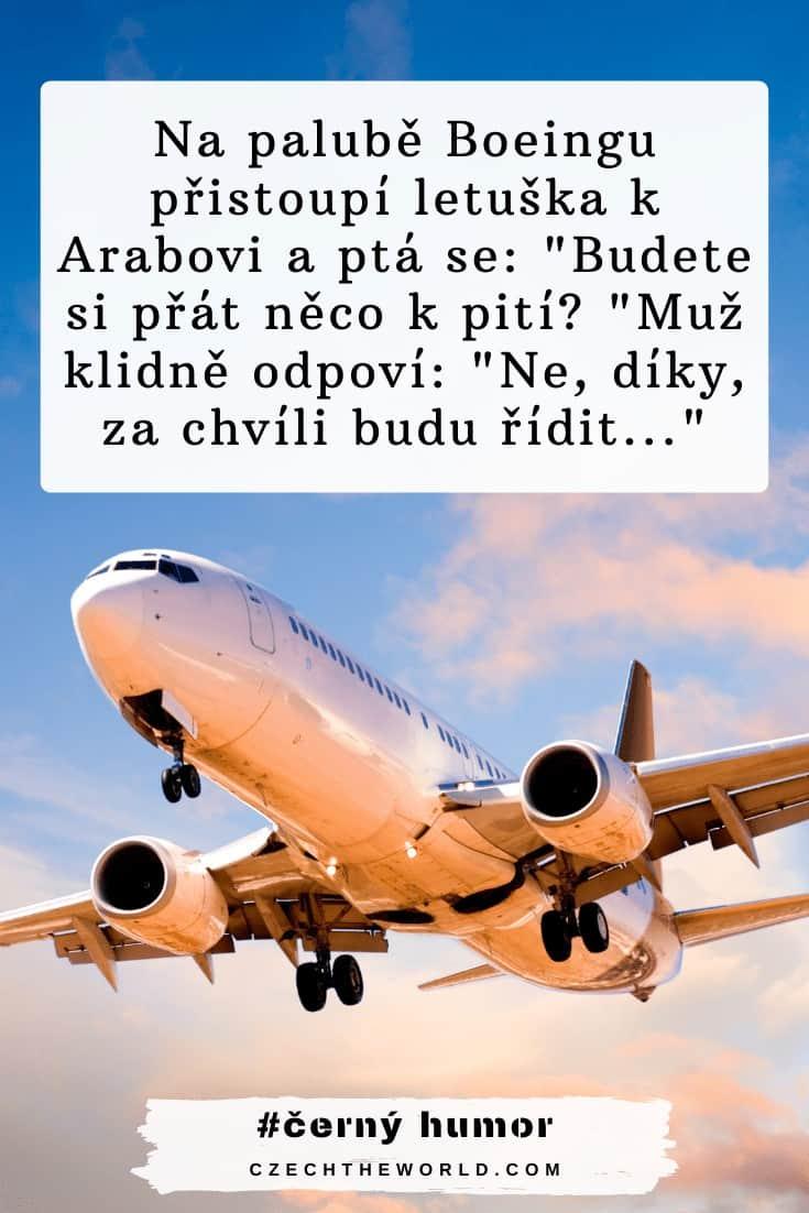 Černý humor z letadla