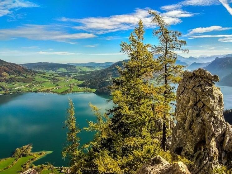 Horní část via ferraty Drachenwand v Rakousku