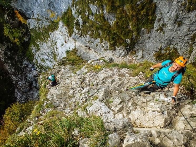 Spodní část ferraty Drachenwand