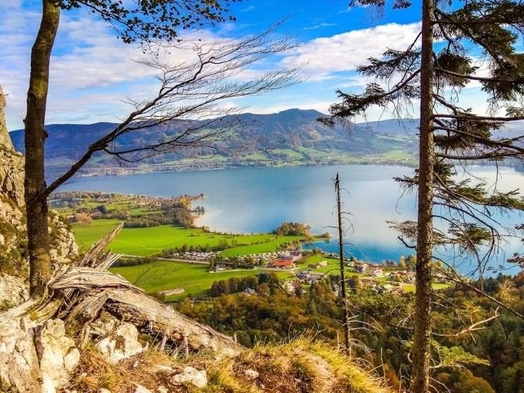 Výhledy z ferraty Drachenwand na Mondsee
