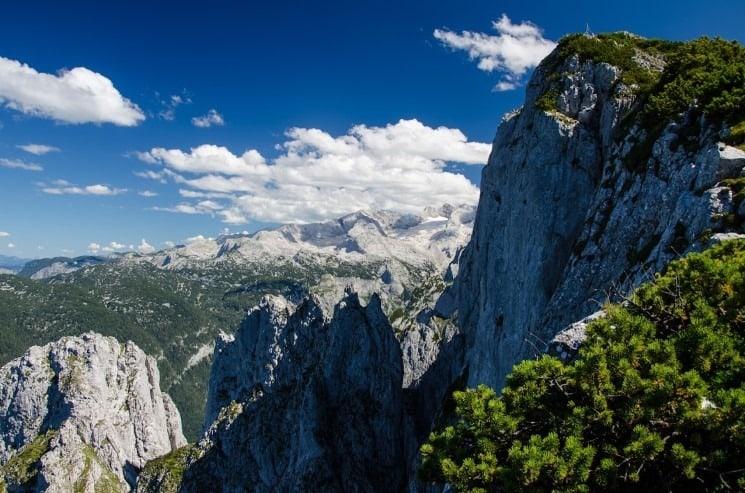 Výhled z ferraty na Dachstein