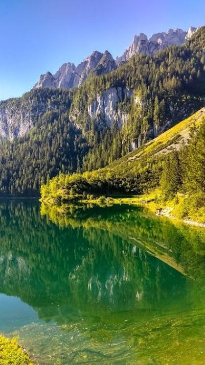 Jezero Gosausee v plné krásě