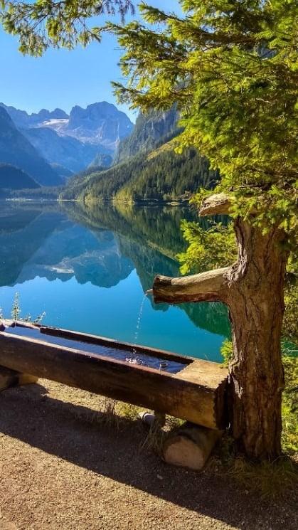 Jezero Gosausee - místo, kde si můžete nabrat vodu