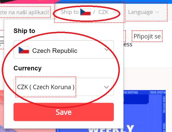AliExpress česky - měna (1)