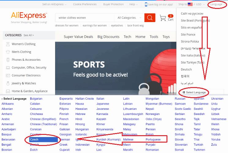 AliExpress v češtině (1)